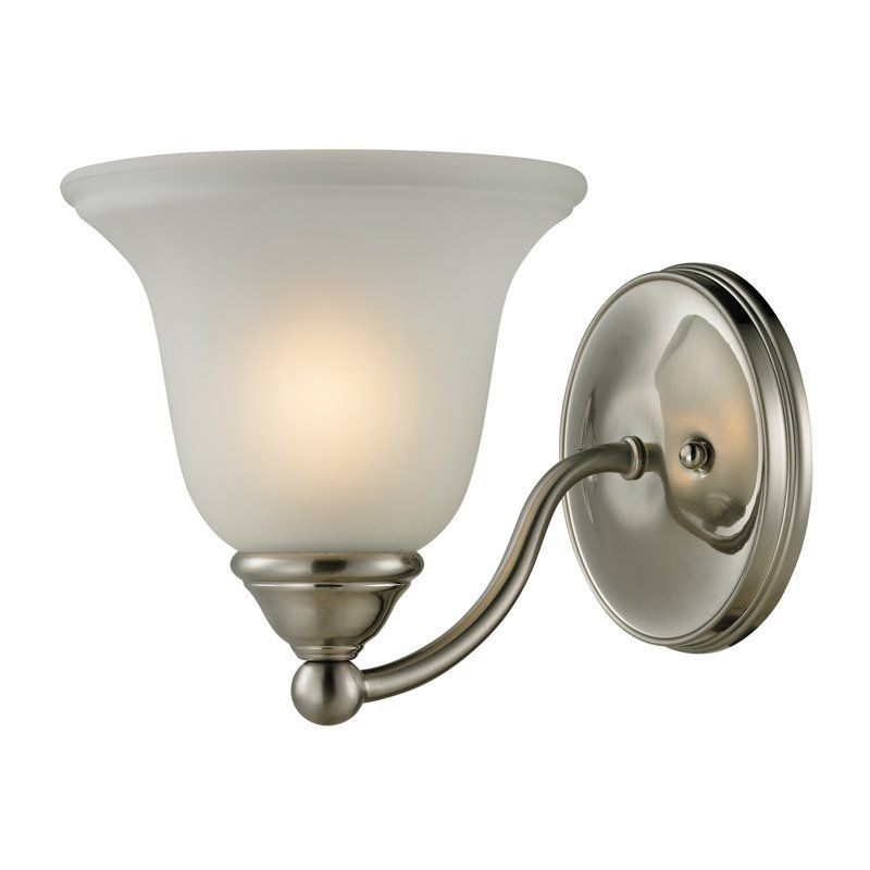 View The Cornerstone Lighting 5501BB Shelburne 1 Light Bathroom Sconce With  Frosted Glass Shade At LightingDirect