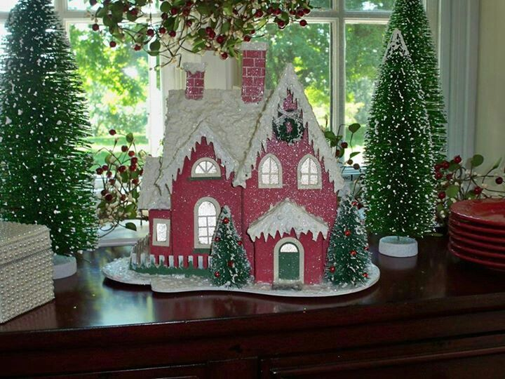 If you like to decorate with Gingerbread houses at Christmas, you can't go  wrong with this beautiful house for Christmas decor by Valerie Parr Hill! - If You Like To Decorate With Gingerbread Houses At Christmas, You