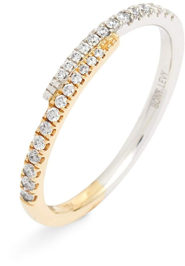 554ef0c0d8047 Bony Levy Diamond Overlap Stacking Ring | Products | Stacking rings ...