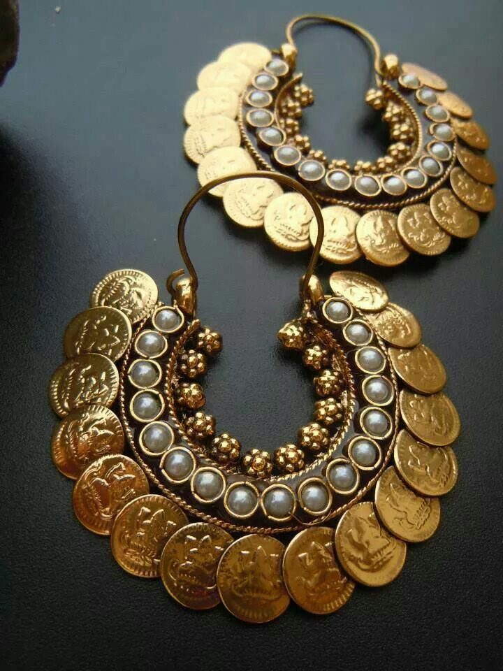 89935d070 Gold Coins and pearl earrings | Accesories_Aylys | Jewelry, Jewelery ...