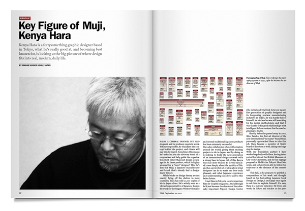 2010 | Time Magazine | Key Figure of Muji, Kenya Hara on