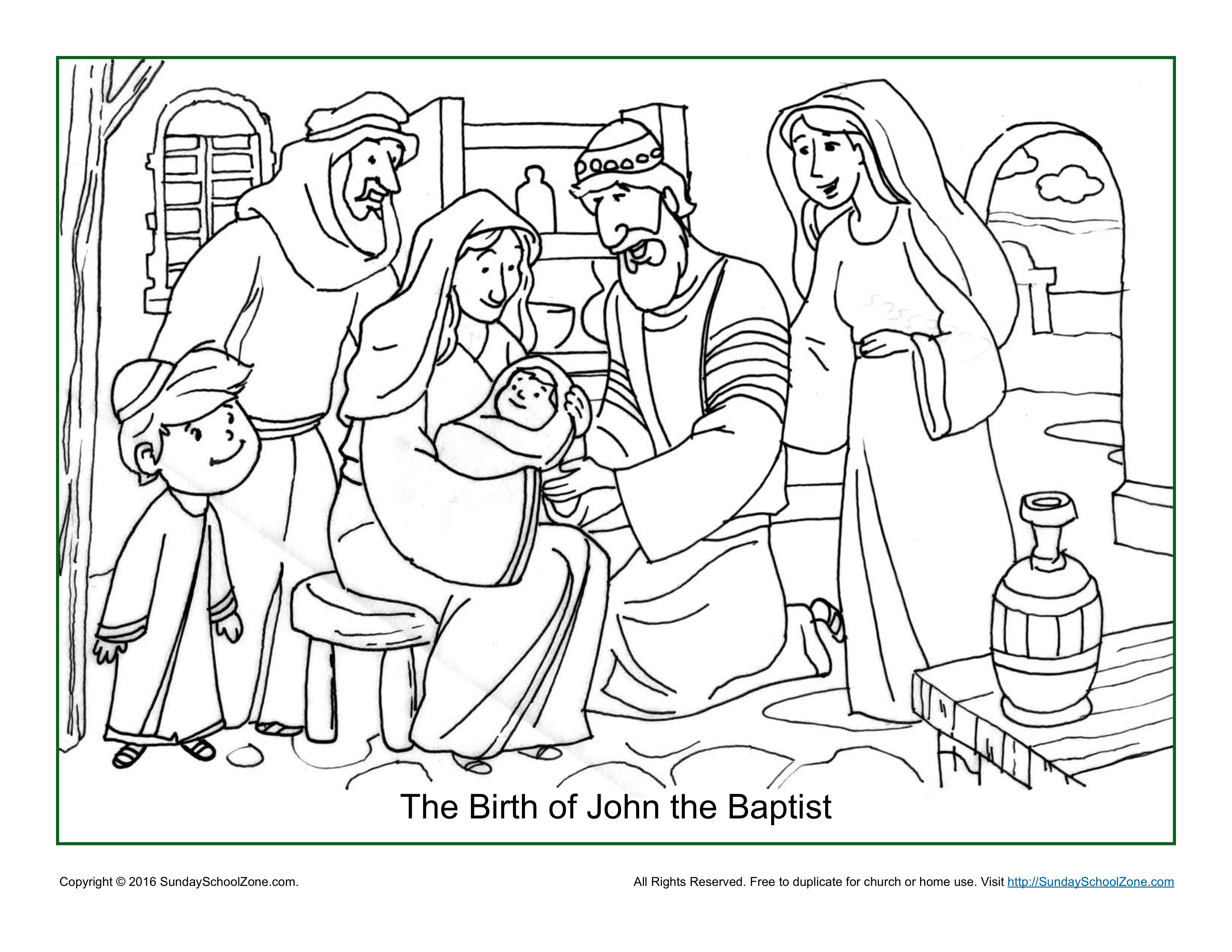 Birth Of John The Baptist Coloring Page on a budget