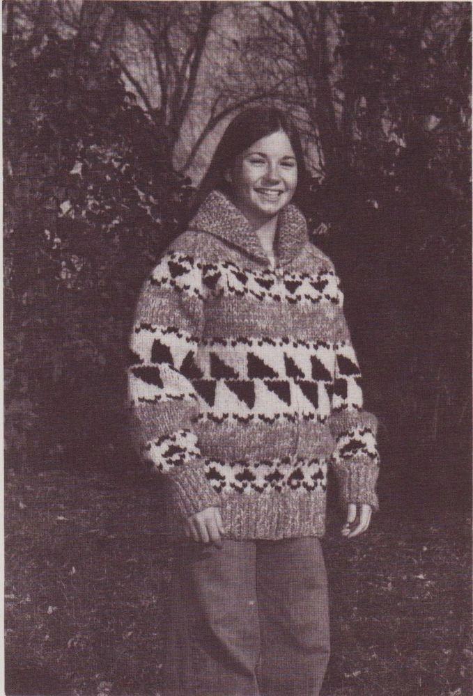 White Buffalo Knitting Pattern 7 C Child Siwash Cowichan Zip