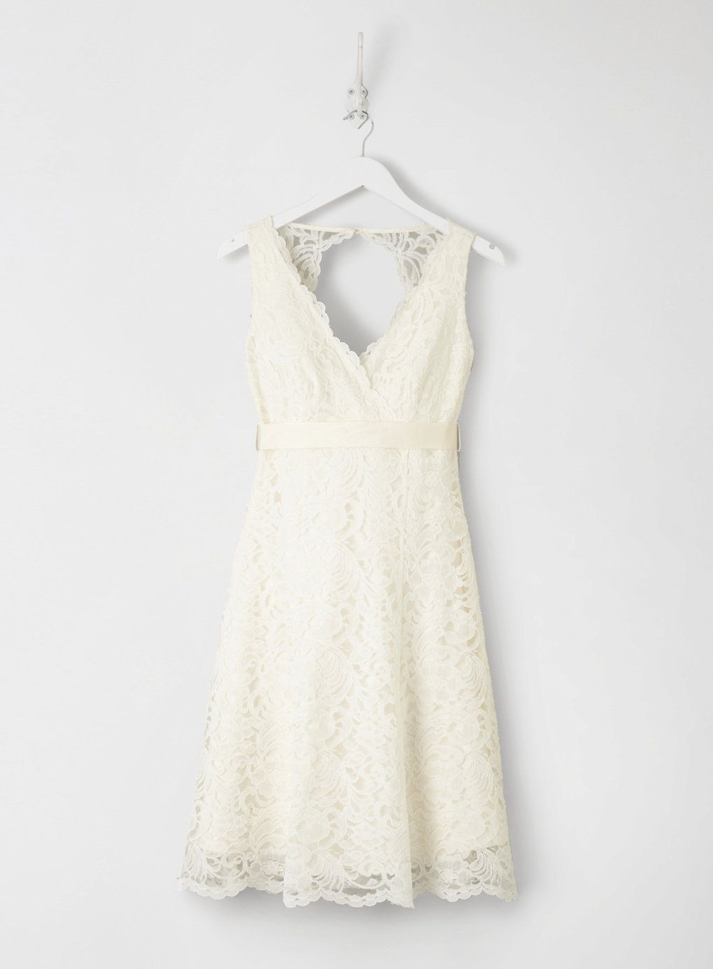 Ivory Bella Lace Short Bridal Dress Bhs Front Knee Length Wedding Dress Short Bridal Dress Wedding Dress Long Sleeve