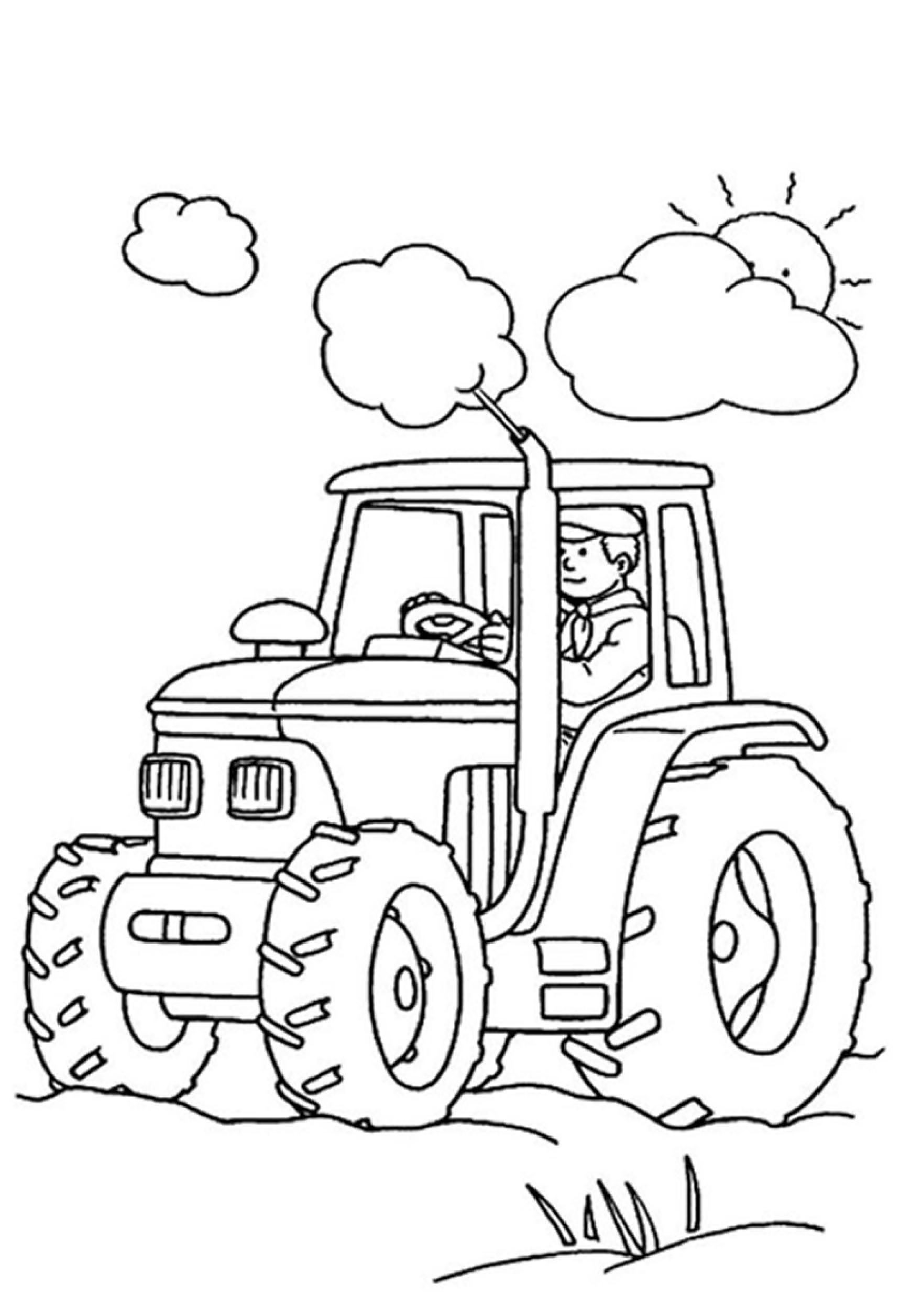 16 Free Colouring Pictures For Children in 2020 Tractor