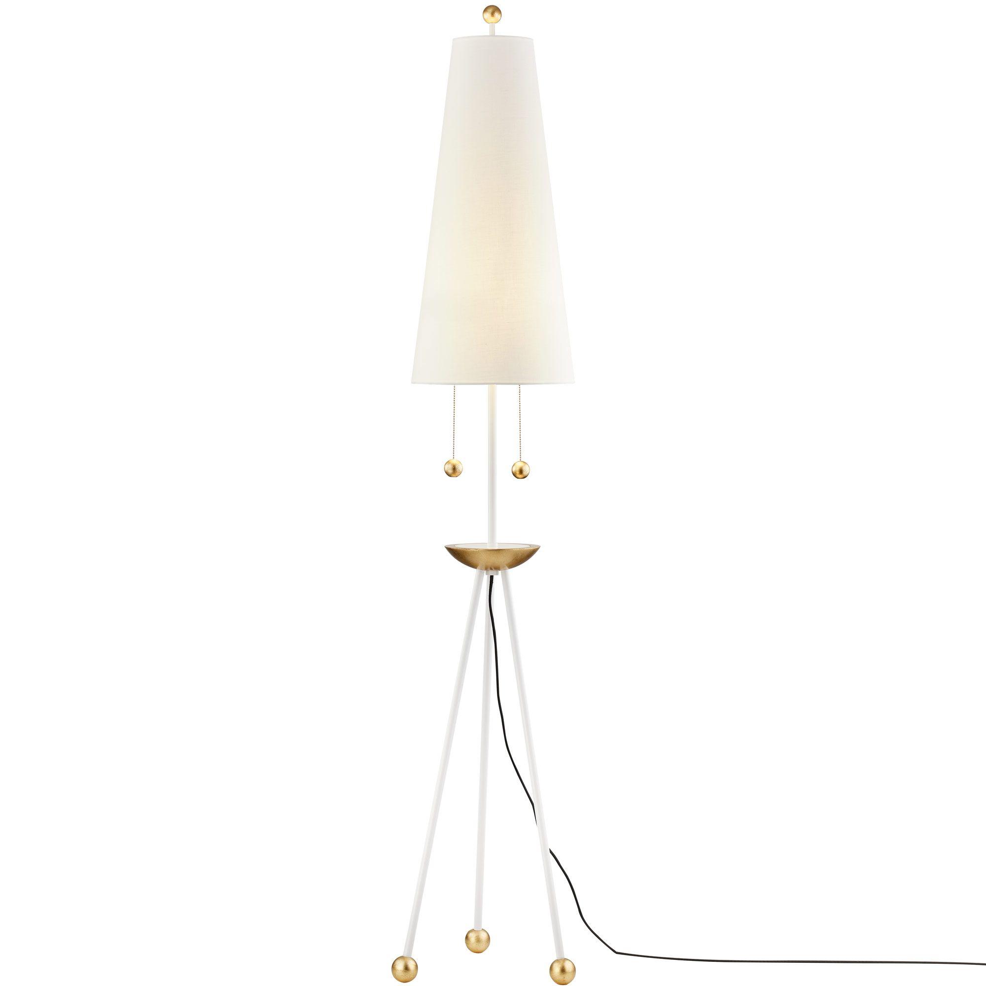 Liza Floor Lamp by Mitzi HL321401GL/WH