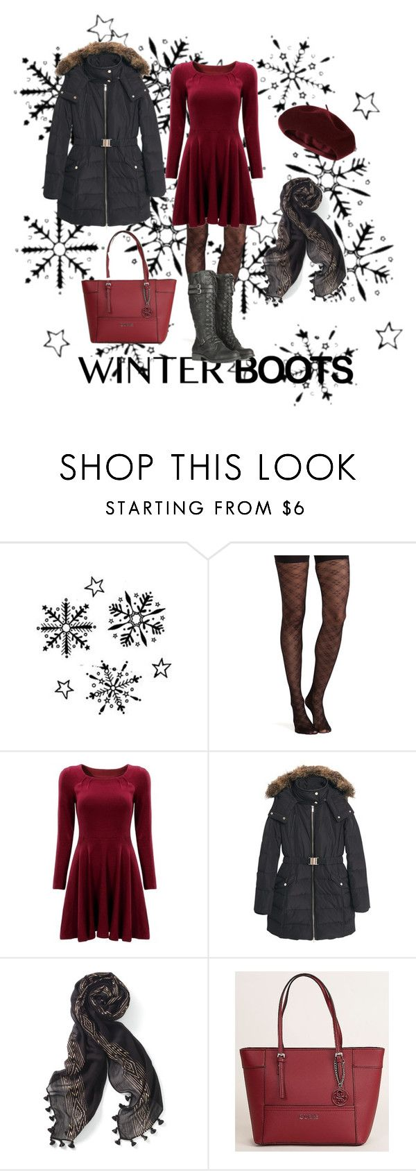 """""""winter boots"""" by liliana-vaccara ❤ liked on Polyvore featuring SPANX, Retrò, MANGO, Stella & Dot, GUESS and Accessorize"""