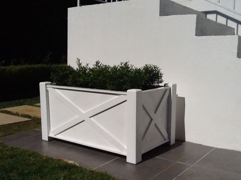 Gorgeous Timber Planter Boxes Designed In Hamptons Style