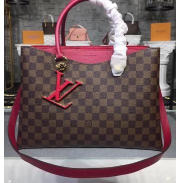 769a78b943 Louis Vuitton Damier Ebene LV Riverside Lie de Vin N40052 | Luxury ...
