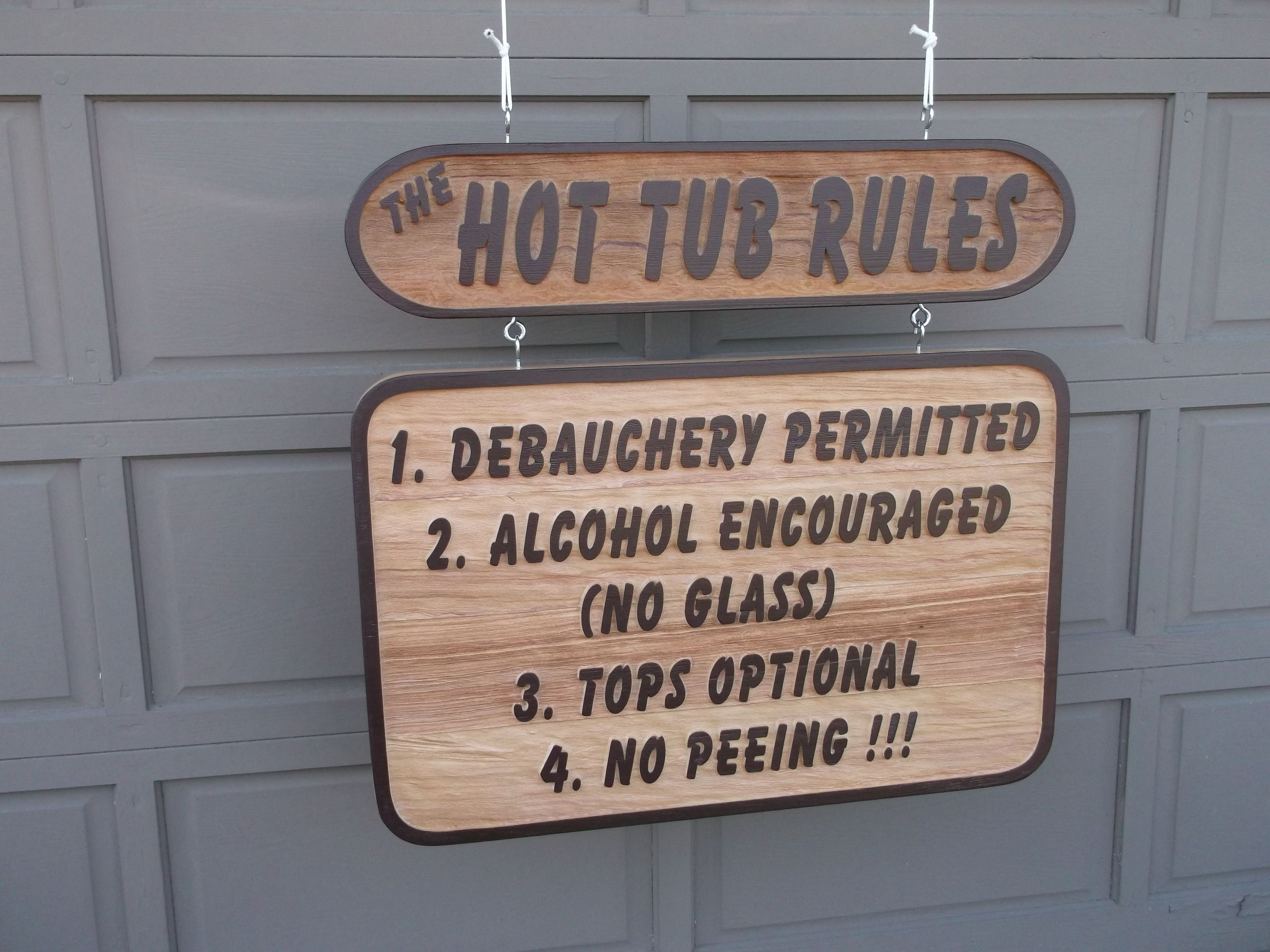 pin vintage retro tub door sign hot wall style metal funny rules