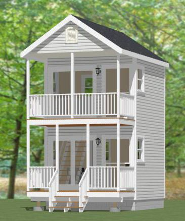 Two Storey Tiny Houses Plans With Loft Small House Plans Small House