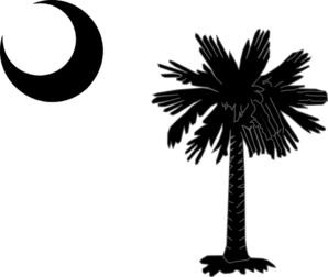 South Carolina State Flag Palmetto And Crescent Moon In Black Clip Art Vector Clip Art Online Royal South Carolina Tattoo Clip Art South Carolina State Flag