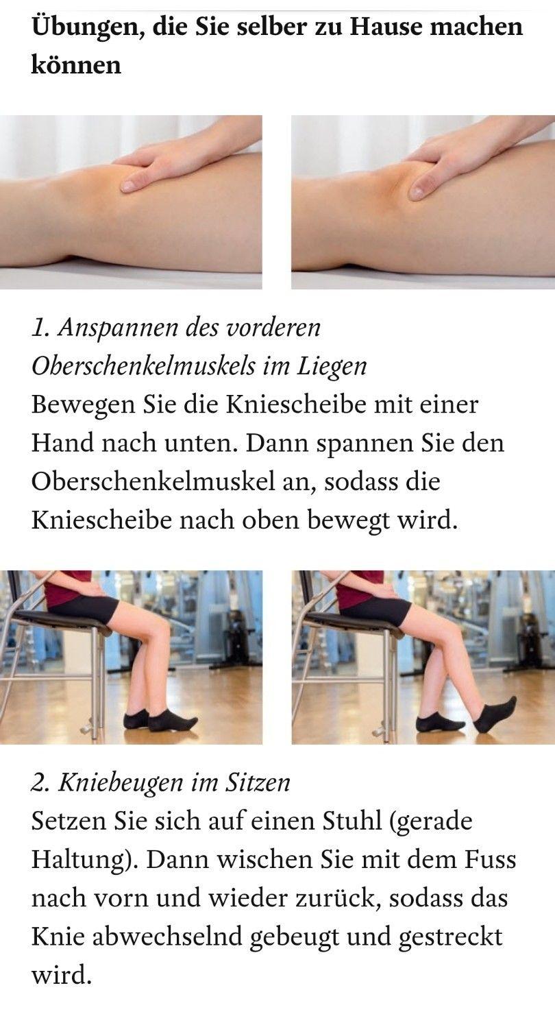 Übungen nach Knie-OP