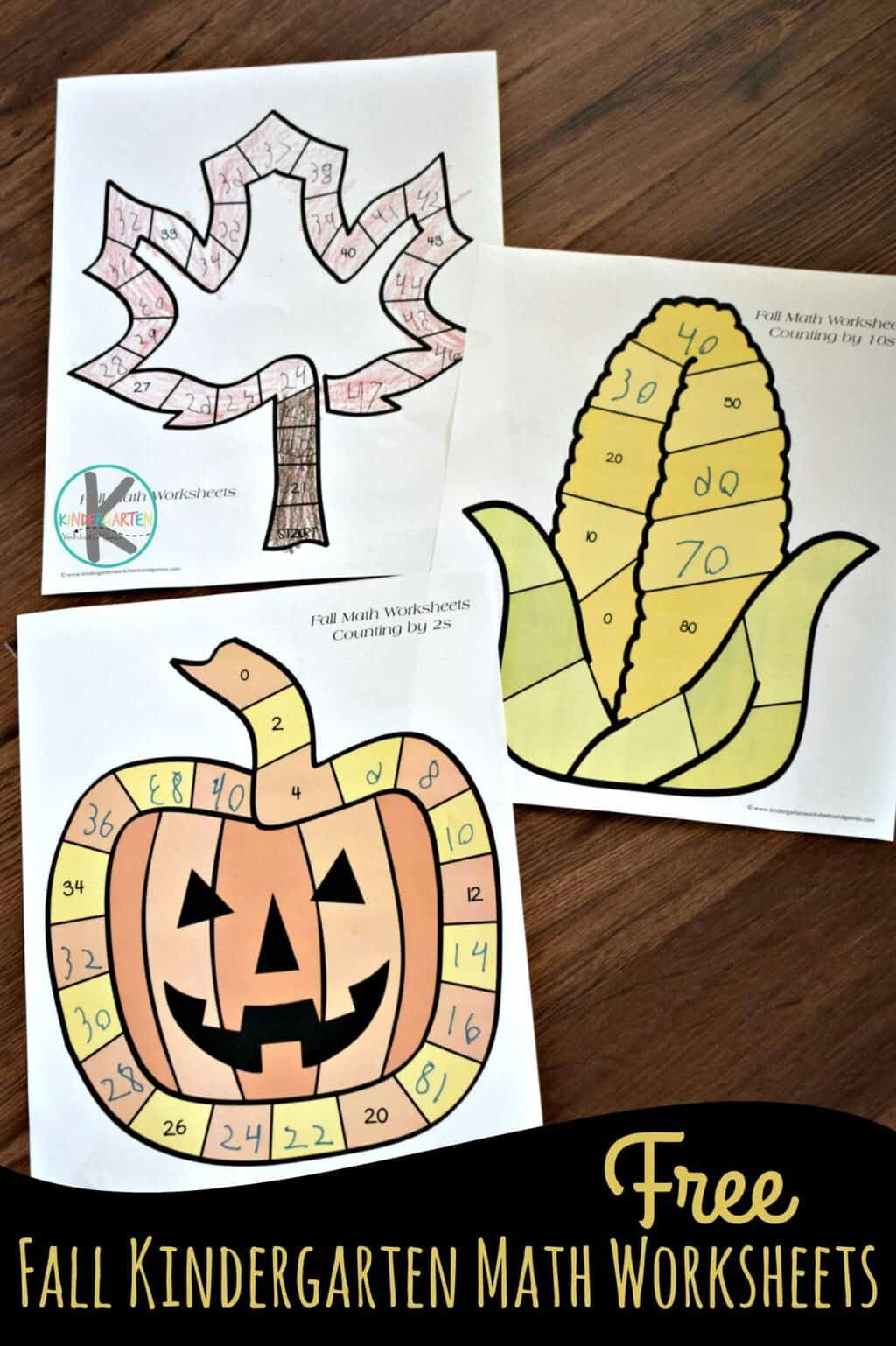 Fall Kindergarten Math Worksheets