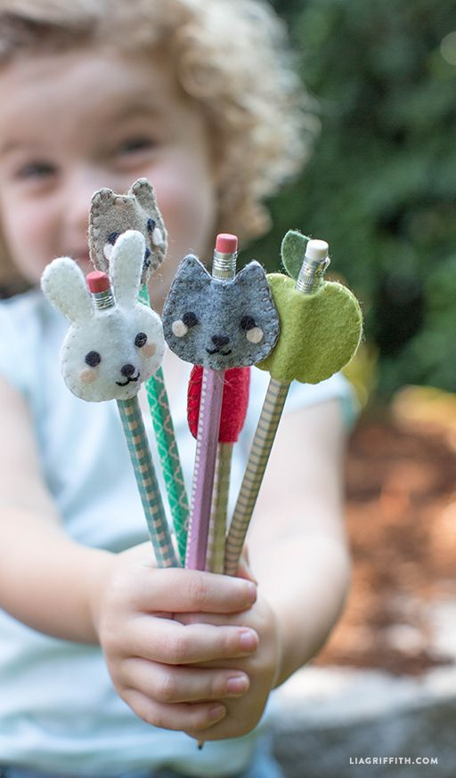 easy felt craft ideas kid s felt pencil toppers real crafts easy 4354