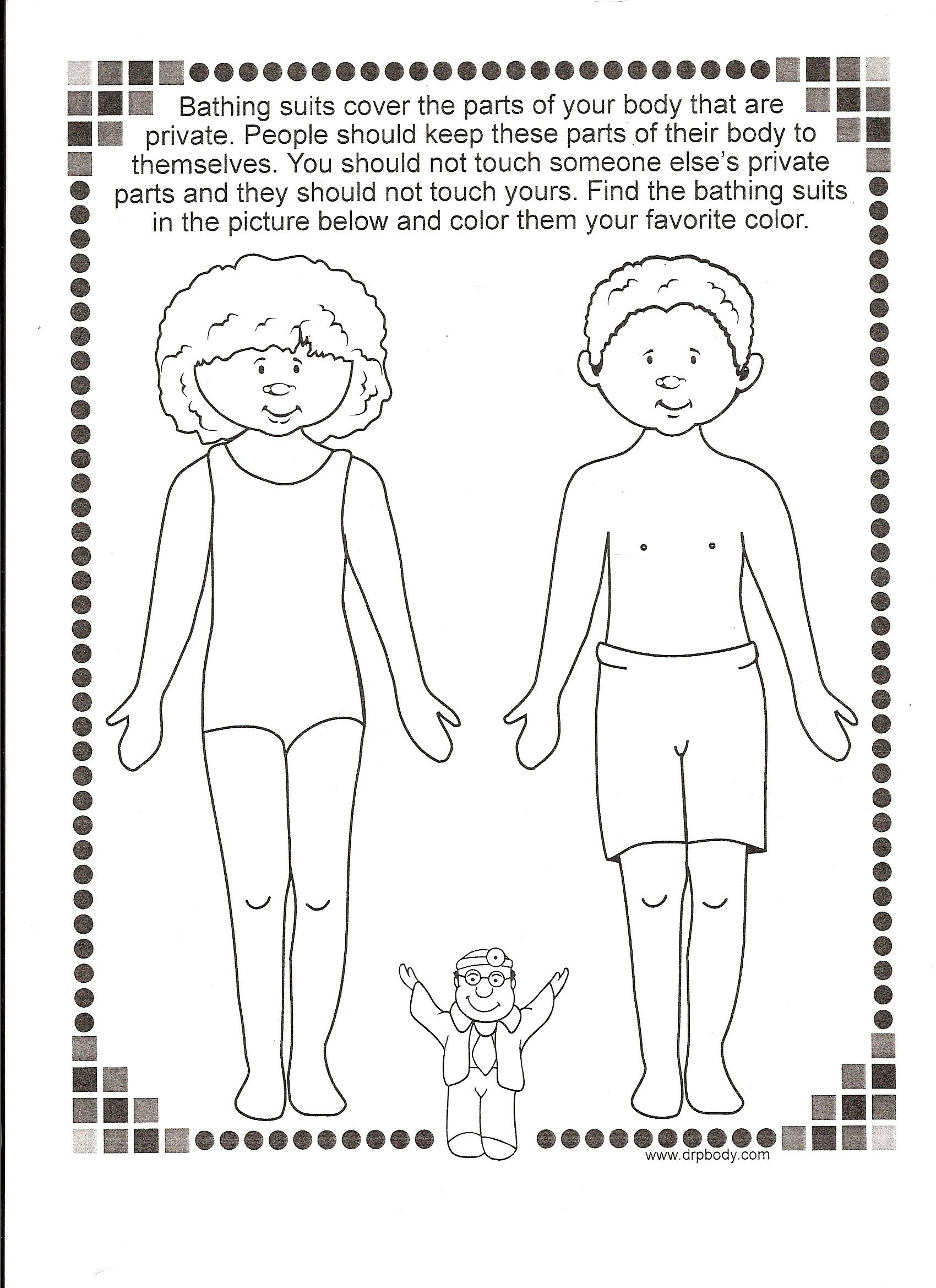 My Body Safety Rules Worksheet