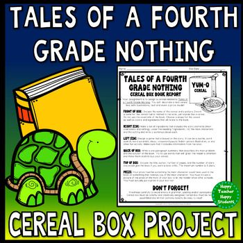 Tales Of A Fourth Grade Nothing Project Cereal Box Book