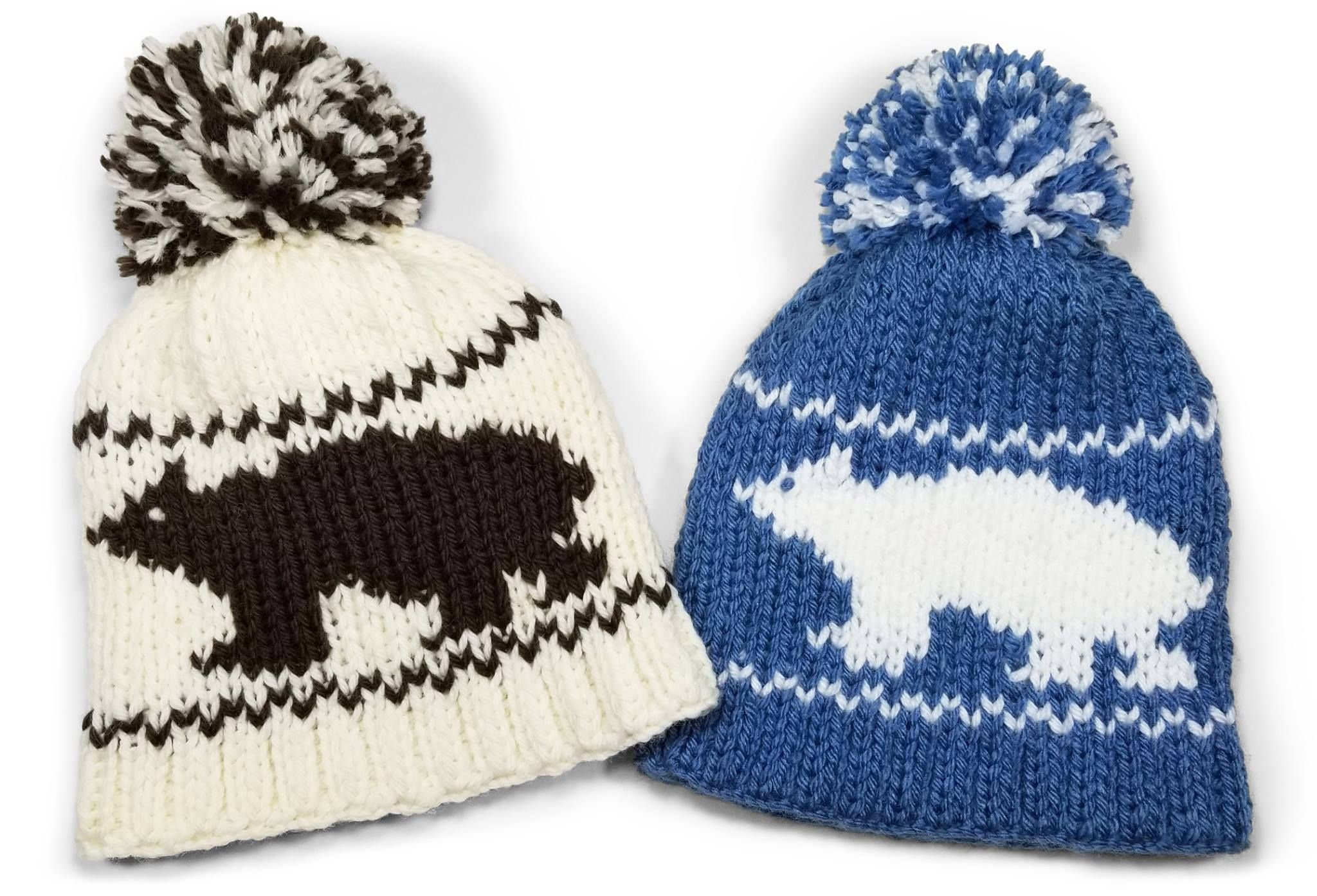Double Knit Bear Beanie made with our Rotating Double Knit Loom ...