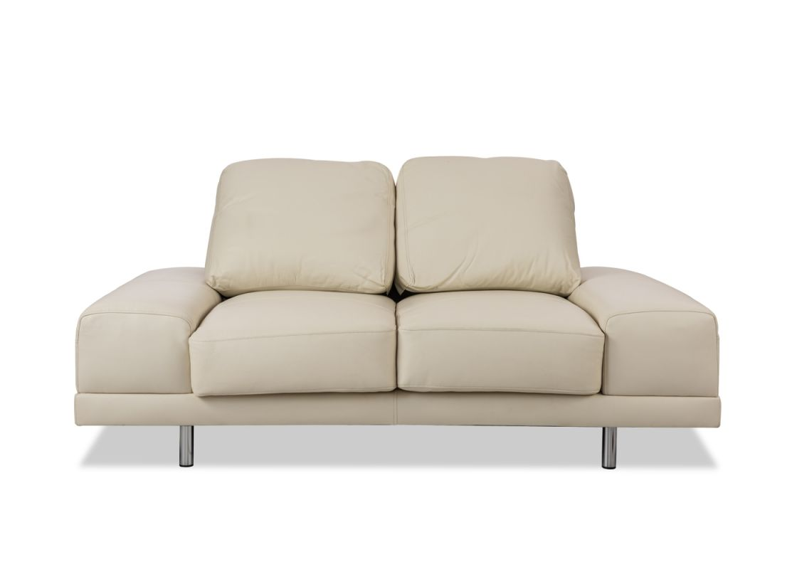DSC 2 Seater Leather Sofa From Durian Has Layer Of Silicon Filling Over  High Density