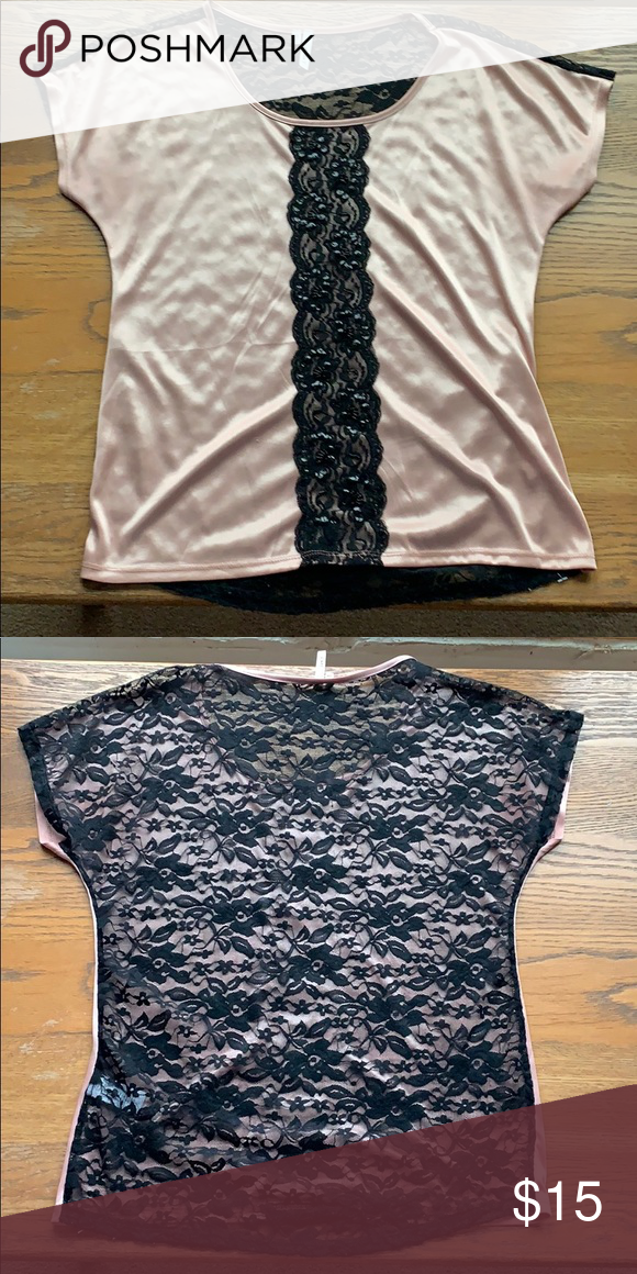 d4eacf314e Maurices Blouse Maurices blush blouse with black lace back Maurices Tops  Blouses