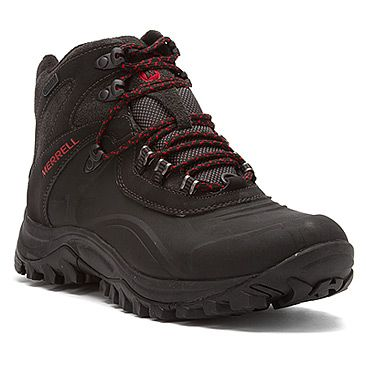 $135 Merrell Iceclaw Mid Waterproof | Men's - Black - FREE SHIPPING at OnlineShoes.com