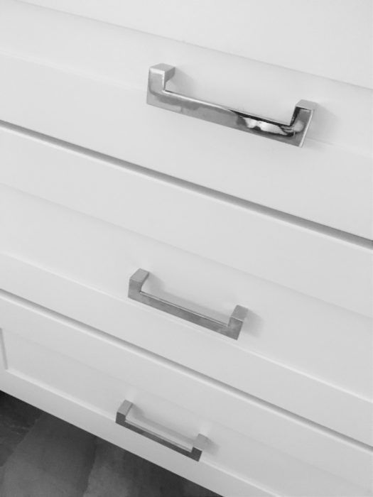 Reinventing White Shaker Cabinets White Shaker Cabinets Shaker - Chrome handles for kitchen cabinets