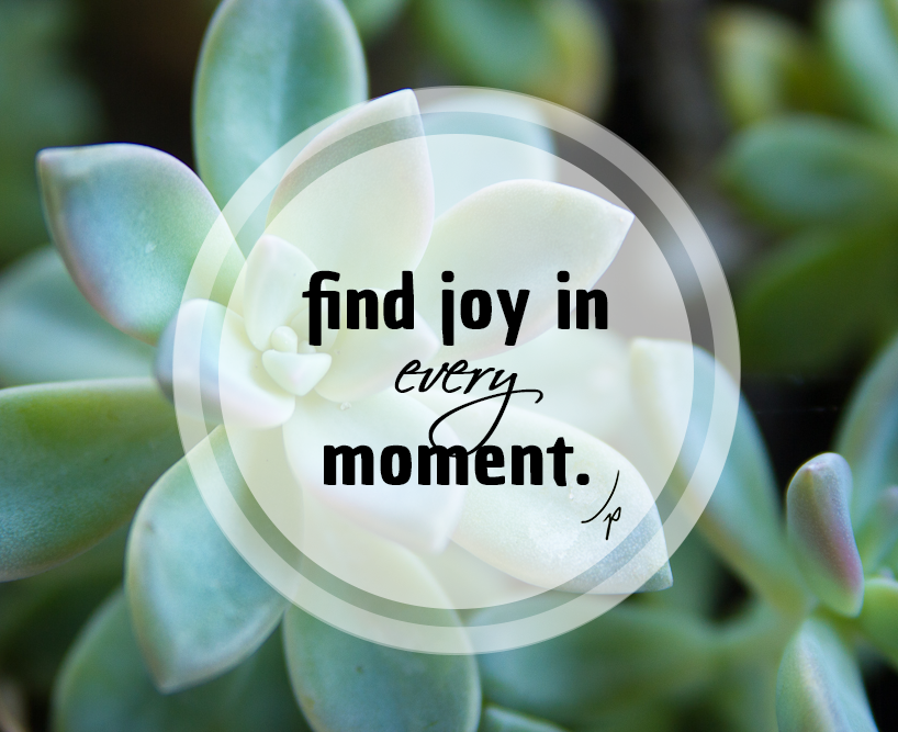 Find joy in every moment.