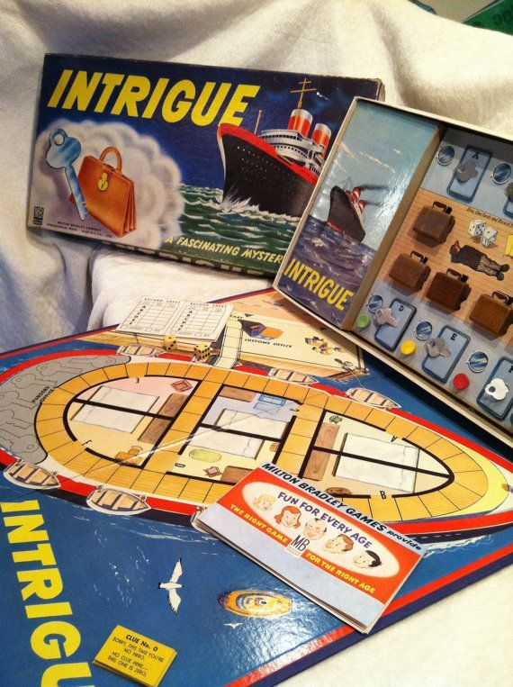 board games from the 1950's | Intrigue Board Game 1950s by LakeErieHarmony on Etsy, $15.00. For some reason the goverment did not like this game and I believe the company had some problems with it when it came out. I mean really?