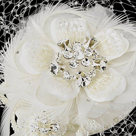 Elegance by Carbonneau Women's Bridal Hat and Bird Cage Wedding Veil -  IVORY at Amazon Women's Clothing store: … | Bridal hat, Bridal fascinator, Bridal  accessories