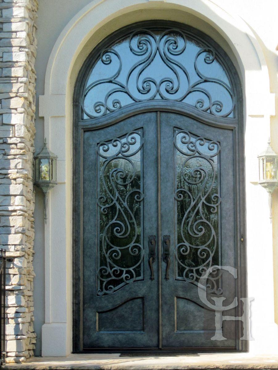 Charcoal Doors With Transom Clark Hall Iron Doors Charlotte Nc