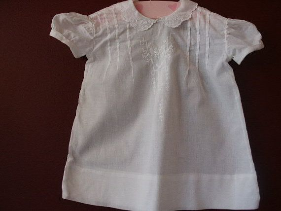 Vintage 1950's Baby Girl Infant White by LadyJanetvintage