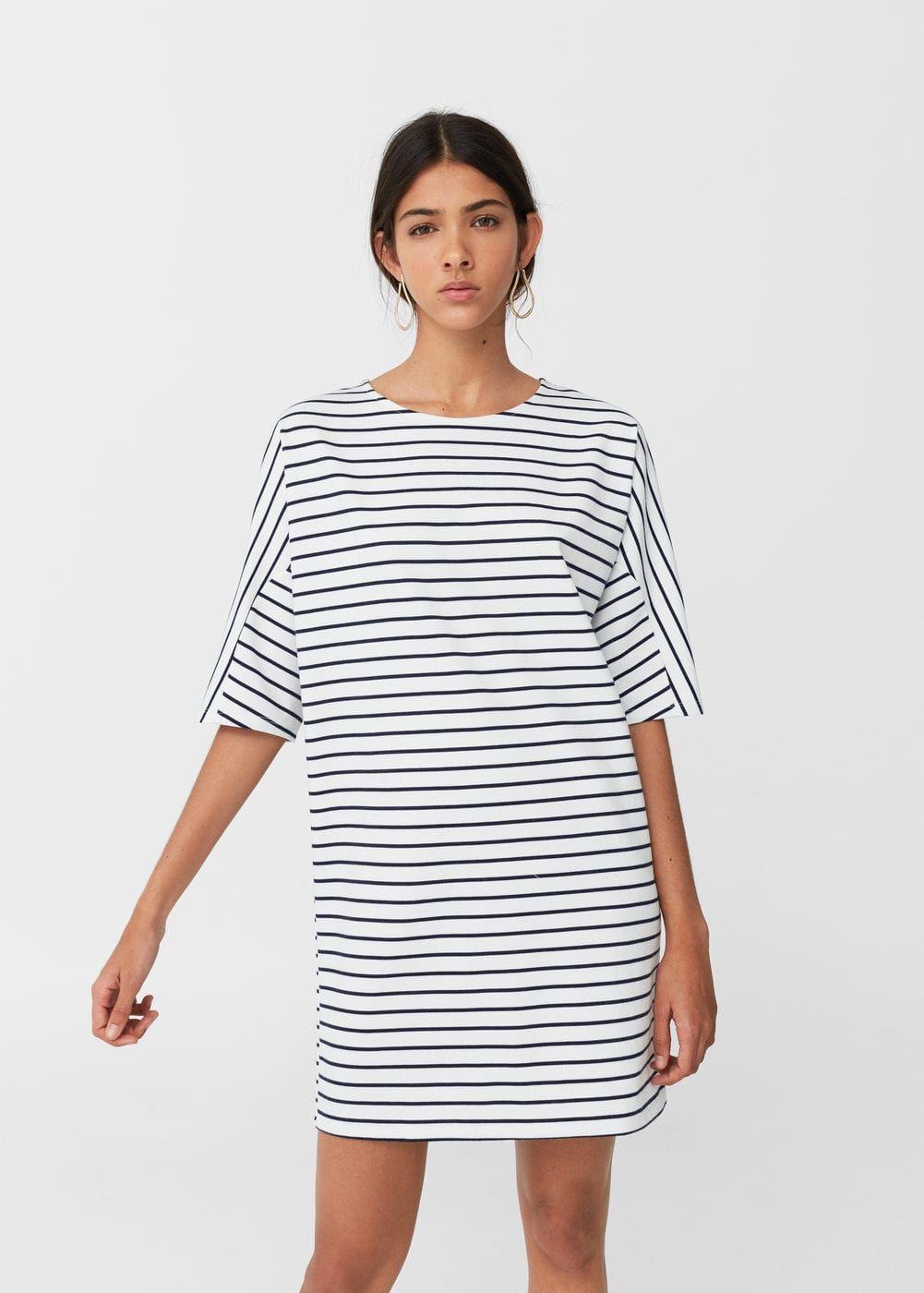 Gestreiftes kleid - Damen | Gestreiftes kleid, Mango und Streifen
