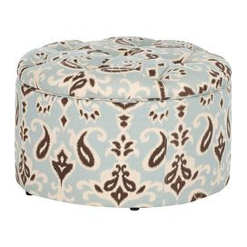Tufted Ottoman With Interior Shoe Storage At The Beach