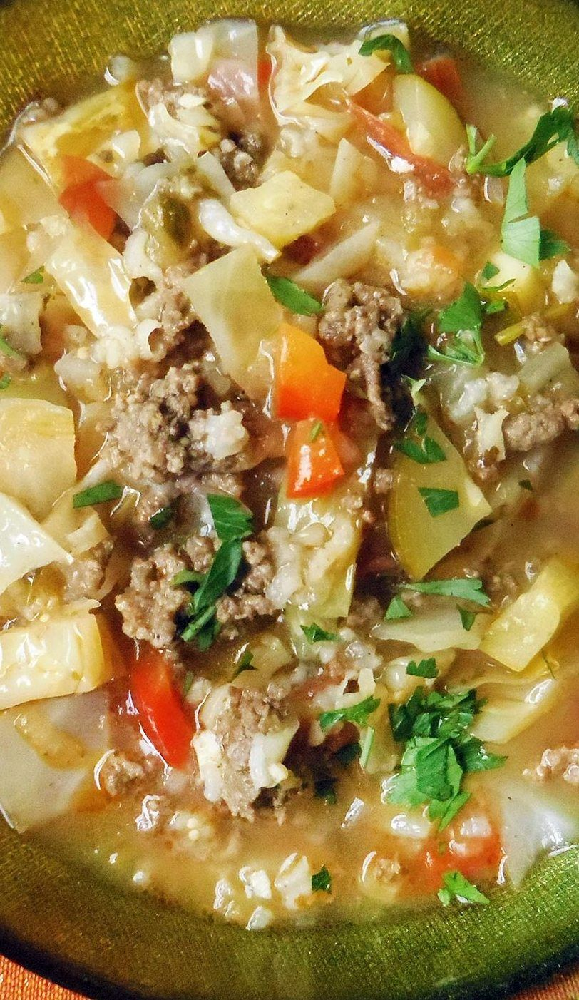 Beef and Cabbage Soup in Tomatillo Broth | Hispanic Kitchen