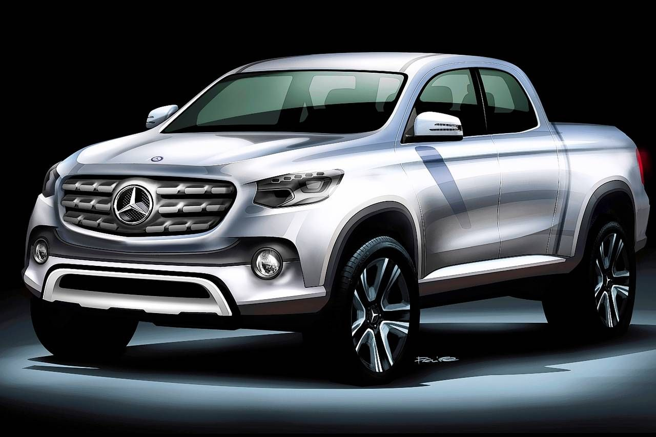 Mercedes benz outlines a luxury pickup for europe south for Mercedes benz europe