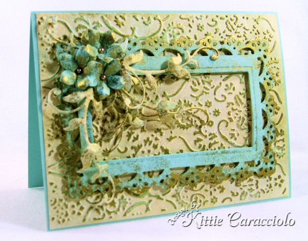 Belleek Inspired Faux Patina by kittie747 - Cards and Paper Crafts at Splitcoaststampers