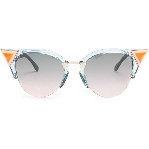40a5290400 Fendi Embellished cat-eye metal sunglasses ($240) ❤ liked on ...