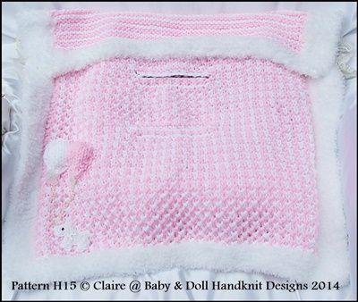 Chunky Balloon Motif Car Seat Blanket Knitting Pattern Car Seat