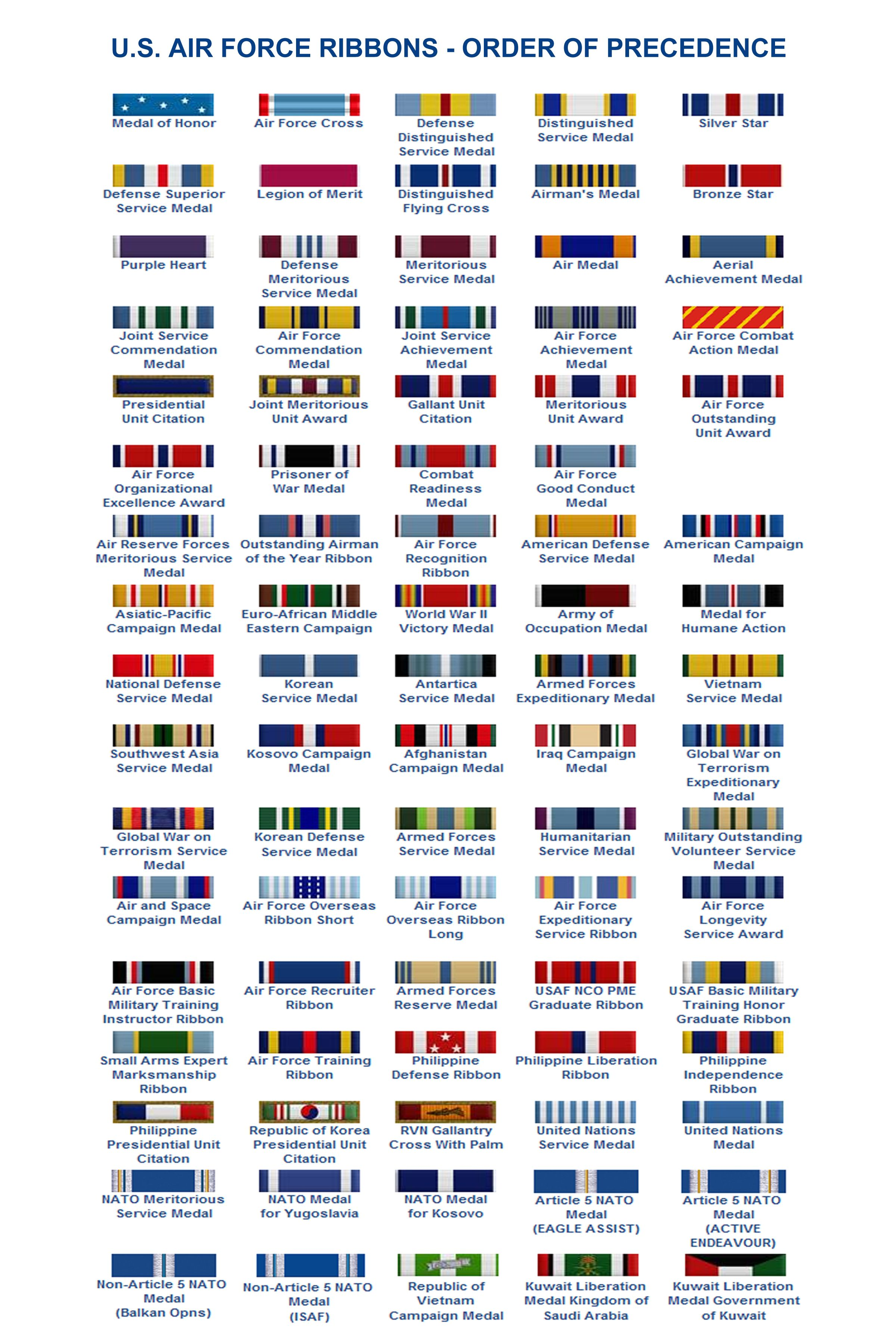 Air force ribbon order of precedence chart also pin by david tosado on pinterest rh