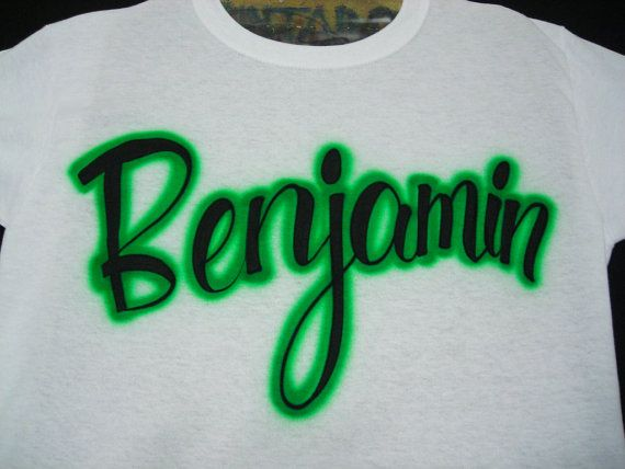 34dfaedc Airbrush Shirt Personalized With Your Name by airbrushingbytaylor, $10.49