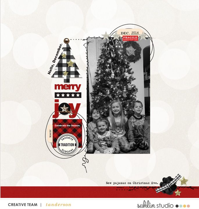 digital scrapbook layout by T.N.Anderson featuring Mad For Plaid by Sahlin Studio