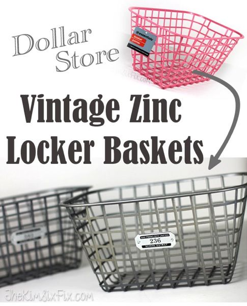 Faux Vintage Zinc Locker Baskets (Ballard Designs Knock Off) -   19 diy 100 inspiration ideas