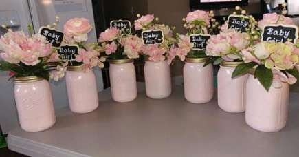 New Baby Shower Floral Centerpieces Mason Jars 23 Ideas
