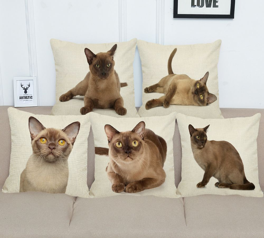 Burmese Cat Lovers Decorative Throw Cushion Covers Price 7 64 Free Shipping Pets Dog Doglovergifts