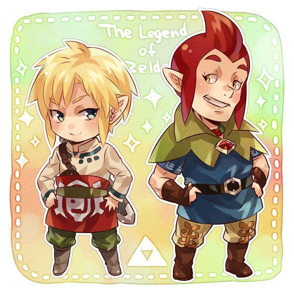 The Legend of Zelda Skyward Sword Chibis Link and Groose
