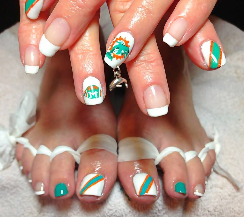 Miami nail art, miami nails, miami NailArt, nails, nail art sports ...