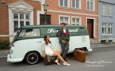 old buss in romantic setting