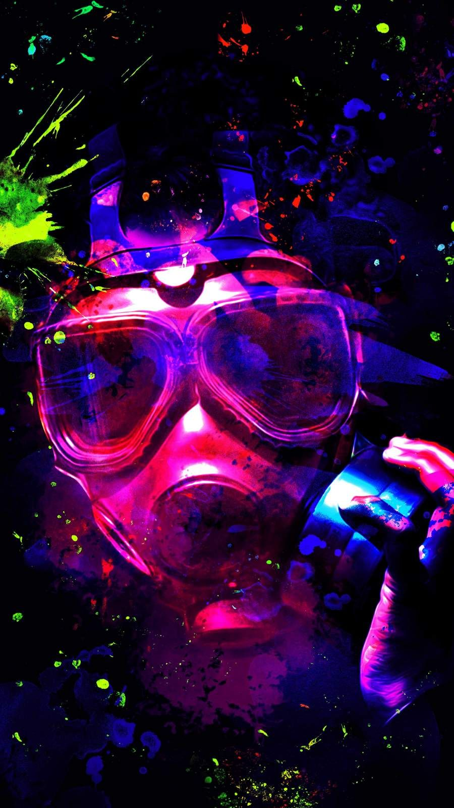 Colorful Mask iPhone Wallpaper Wallpaper iphone