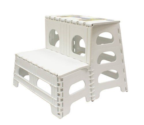 Range Kleen Ss2 Double Step Stool White By Range Kleen