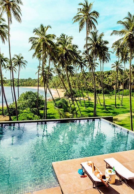 A serene Sri Lankan resort, one of Hanya Yanagihara's stops on her 51-day Grand Tour of Asia.